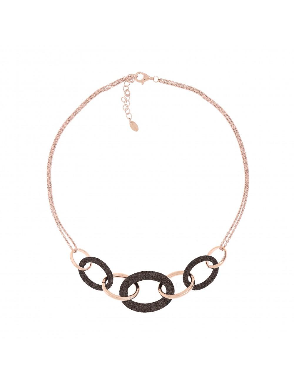Pesavento -Collar Pesavento plata baño oro rosa -WPLVE1160