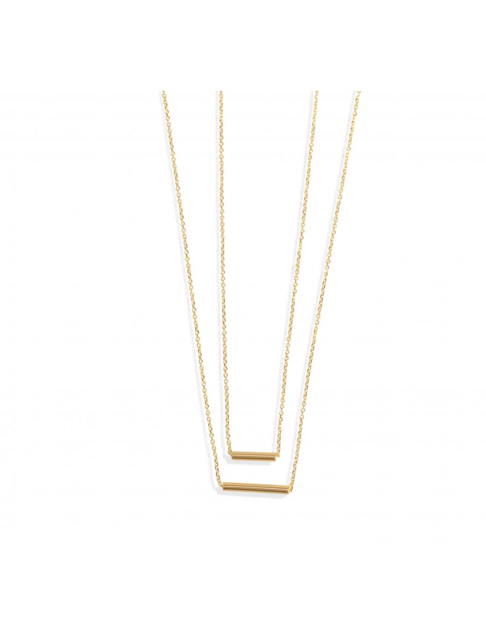 -Collar doble oro amarillo -A53-C22005Y-43:00