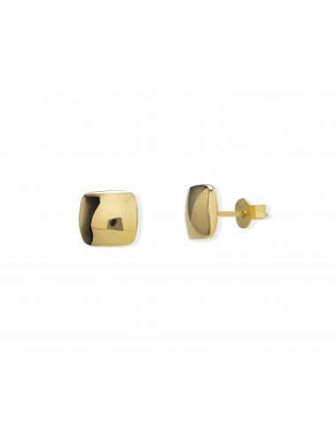 -Pendientes oro amarillo cuadrado -A466-O12318:00
