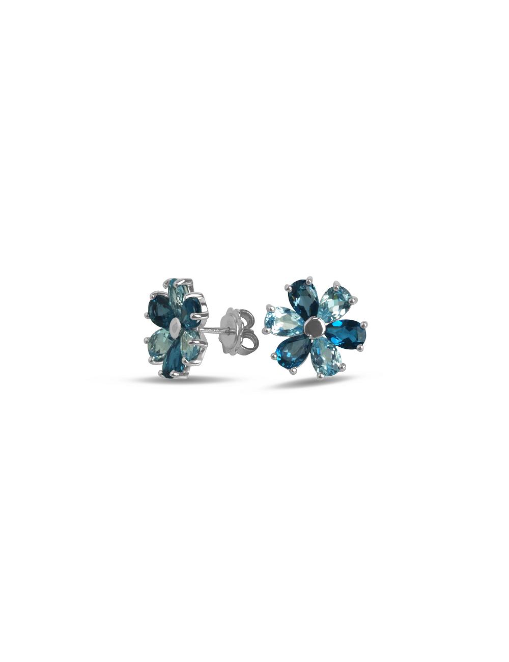 -Pendientes oro blanco topacios azules -A41-MOD0F6/MIX1:01