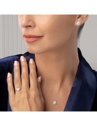 -Collar oro blanco y diamantes con topacio azul sky -A30-44456SK-43:01