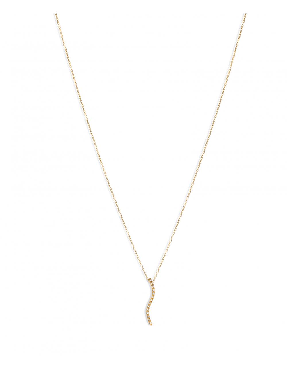 -Collar oro rosa con diamantes talla brillante -A30-45228-43:03