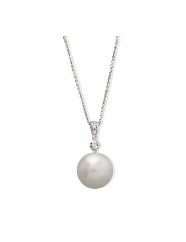 -Collar oro blanco con brillantes y perla australiana -A01-17818A-43:01