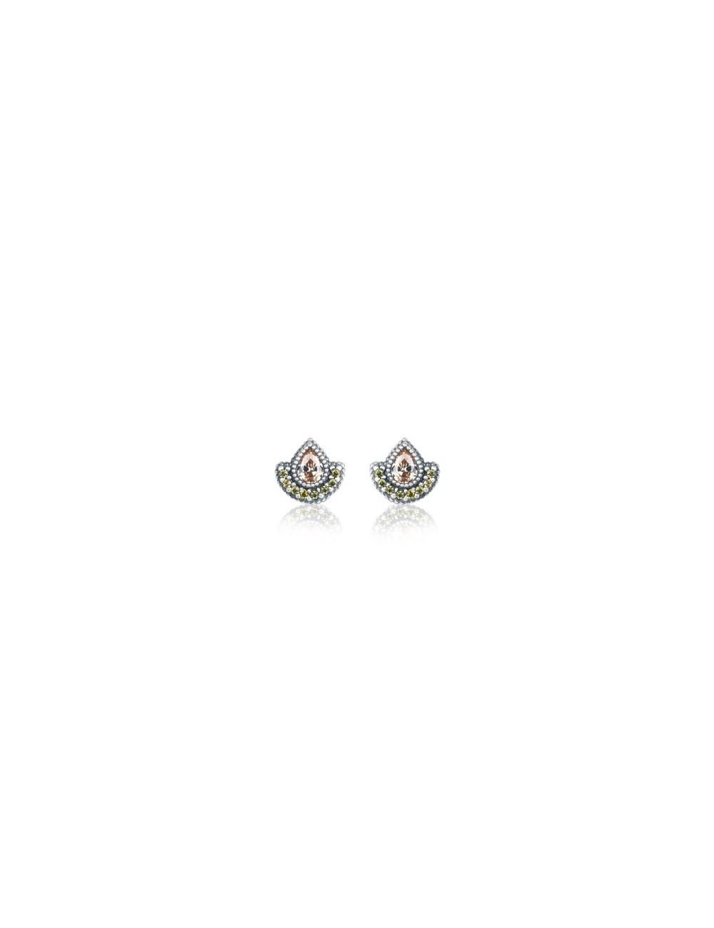 Sunfield -Pendientes Sunfield plata y circonitas -PE062493