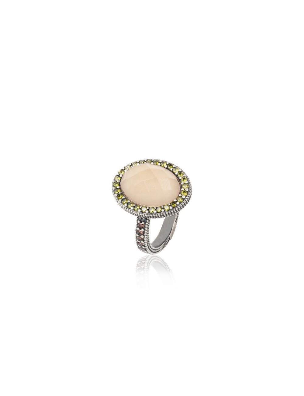 Sunfield -Anillo Sunfield plata, cuarzo rosa y circonitas -AN062465/15