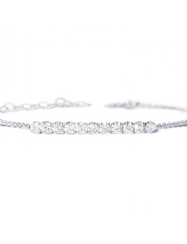 -Pulsera Oro blanco con diamantes -FB6169B001