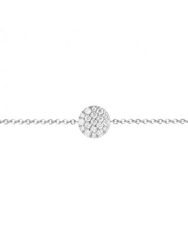 -Pulsera Oro blanco con diamantes motivo redondo -FB2495B001