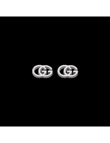 Gucci -Pendientes Gucci GG de Oro blanco -YBD09407400100U