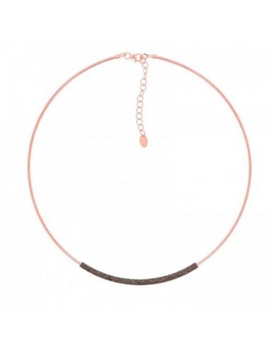 Pesavento -Collar Pesavento Plata Rosa -WDNAG180