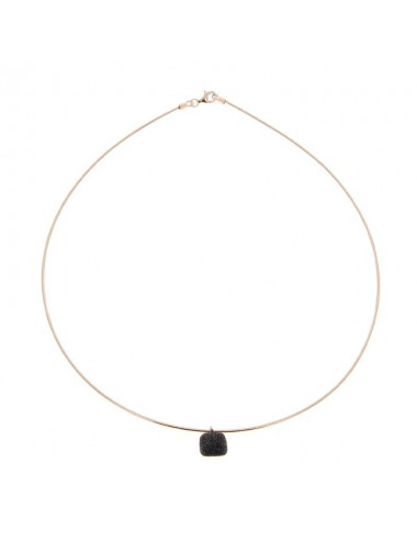 Pesavento -Collar Pesavento Plata Rosa -WDNAG055