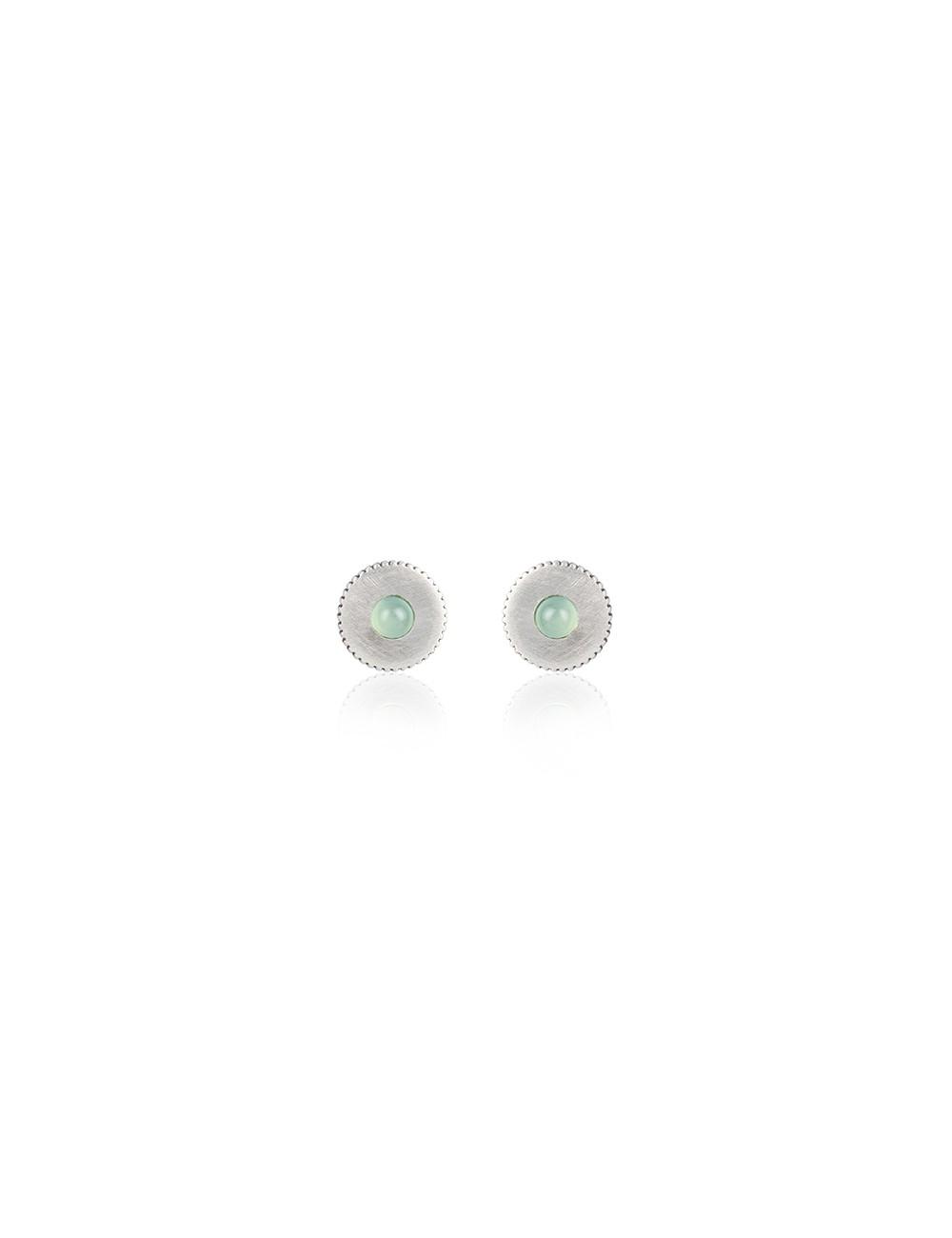Sunfield -Pendientes Sunfield plata y calcedonia -PE062331/13