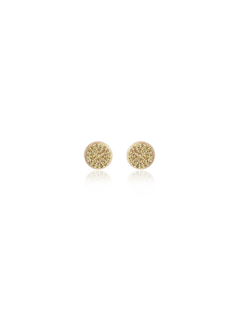 Sunfield -Pendientes Sunfield plata baño oro rosa y circonitas -PE06230/2/20