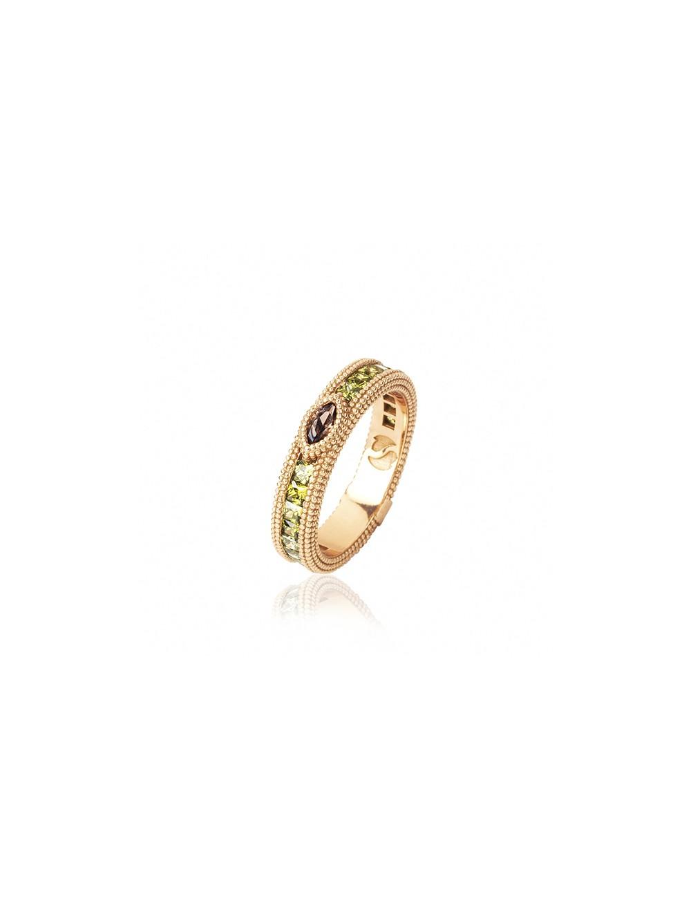 Sunfield -Anillo Sunfield plata baño oro rosa y circonitas -AN062343/2