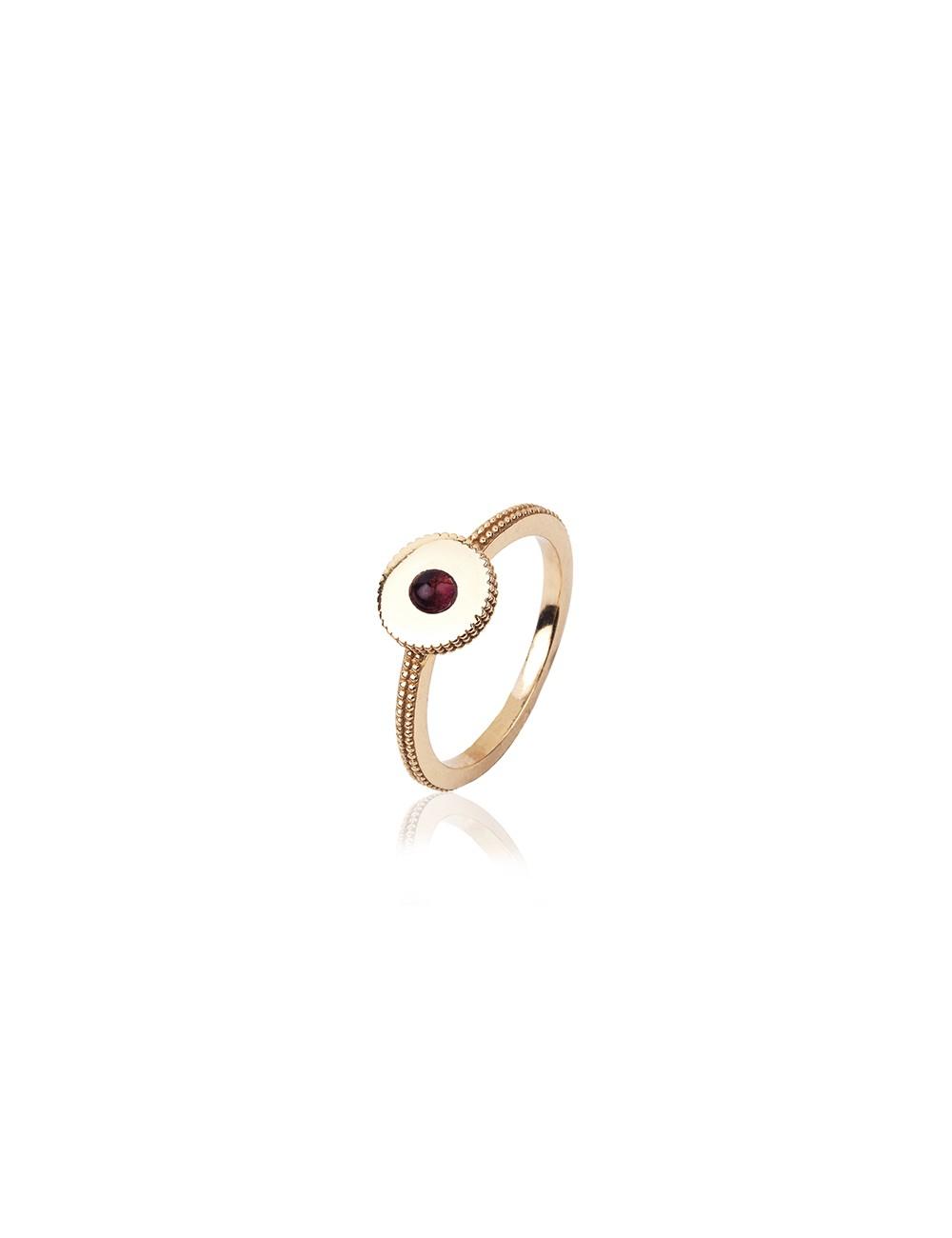 Sunfield -Anillo Sunfield plata baño oro rosa y turmalina -AN062331/2/26