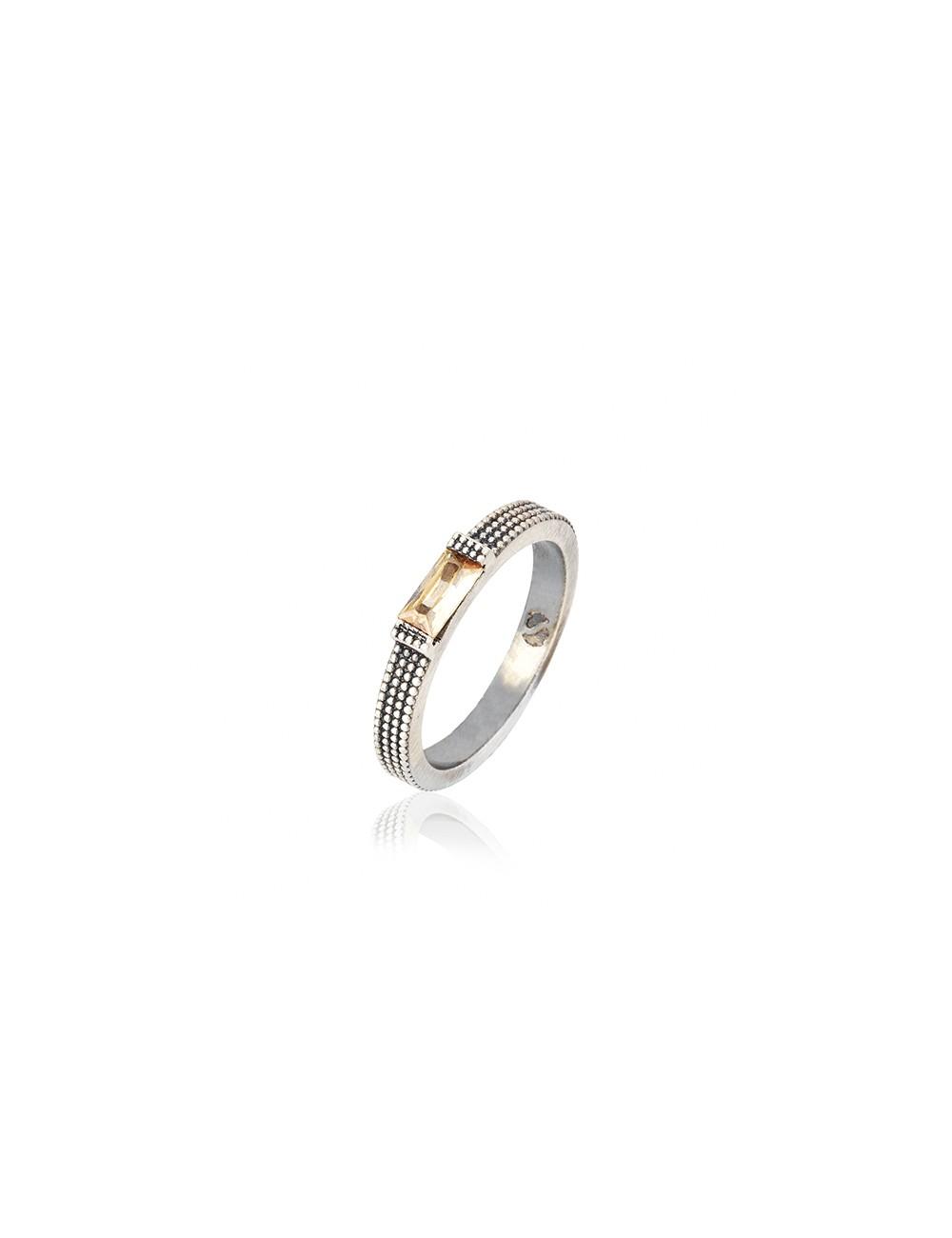 Sunfield -Anillo Sunfield plata y circonita -AN062435/23