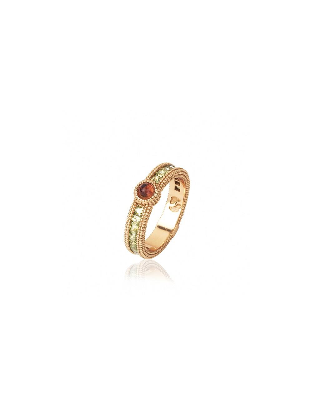 Sunfield -Anillo Sunfield plata baño oro rosa, turmalina rosa y circonitas -AN062340/2/26