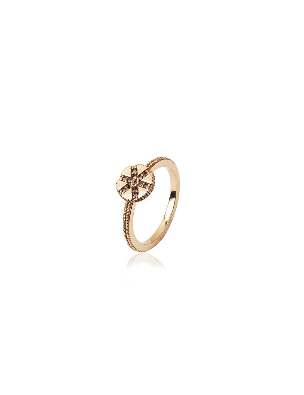 Sunfield -Anillo Sunfield plata baño oro rosa y circonitas -AN062333/2/12