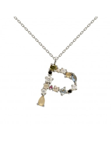 PdPaola -PdPaola collar letra silver -CO02-096-U