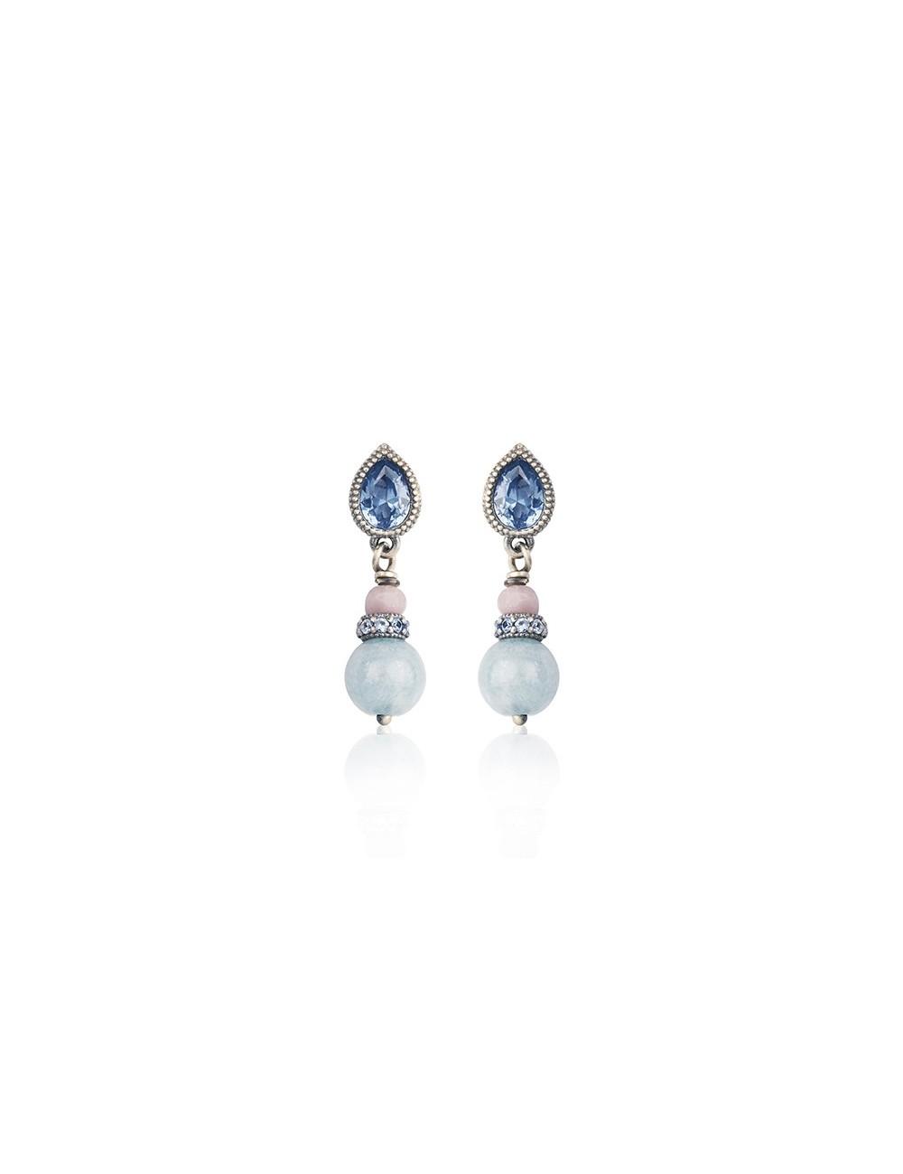 Sunfield -Pendientes plata, ágata circonitas y cristal -PE062350/13