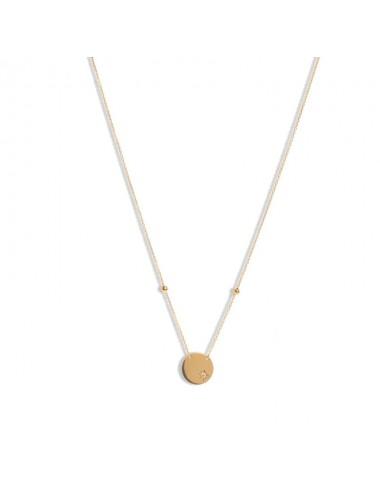 -Collar redondo en oro amarillo con diamante -520159