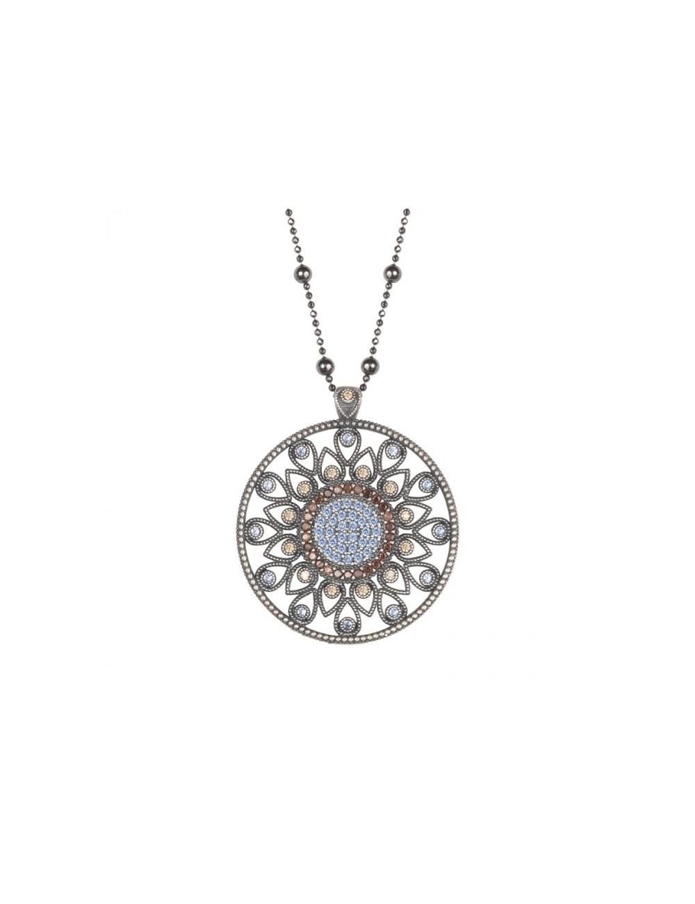 Sunfield -Collar Sunfield plata y circonitas -CL062241