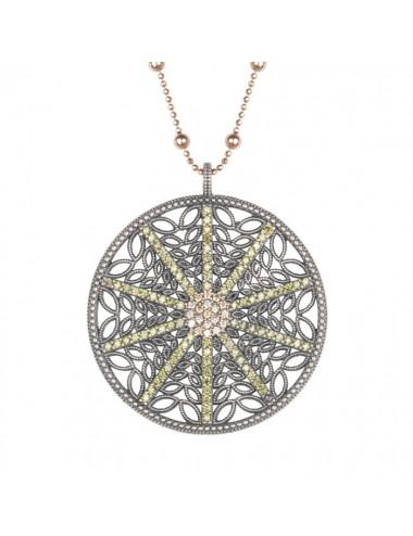 Sunfield -Collar Sunfield plata y circonitas -CL062240