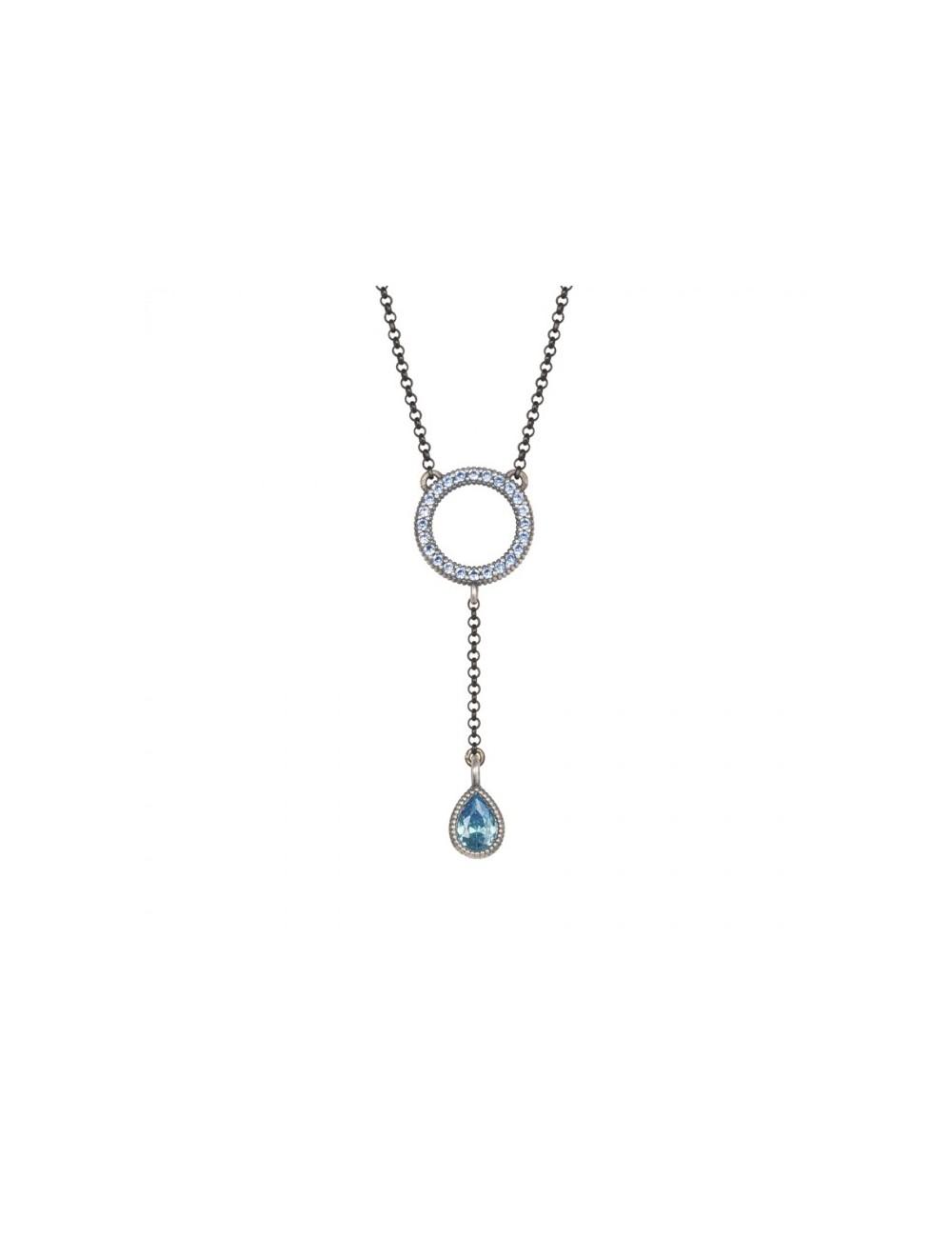 Sunfield -Collar Sunfield plata y circonitas -CL062173