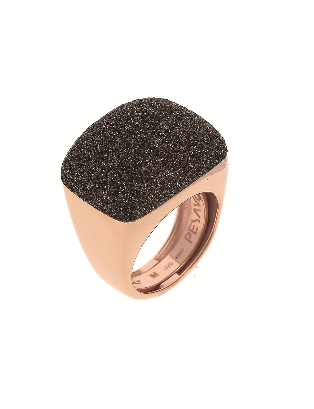 Pesavento -Anillo Pesavento rosa polvo marrón -WPLVA1695