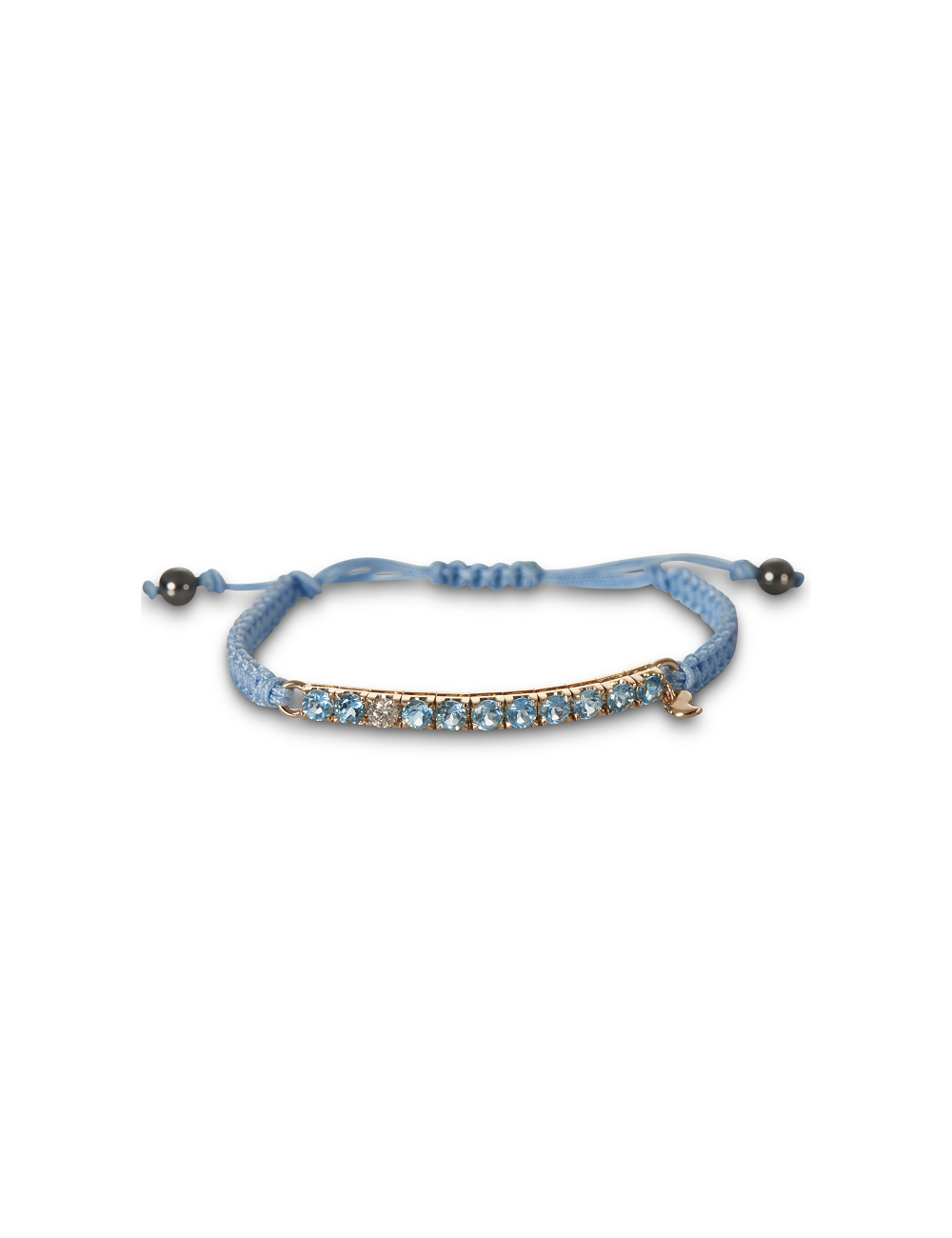 Cervera -Pulsera macramé twisted topacios azules -P775B/TA